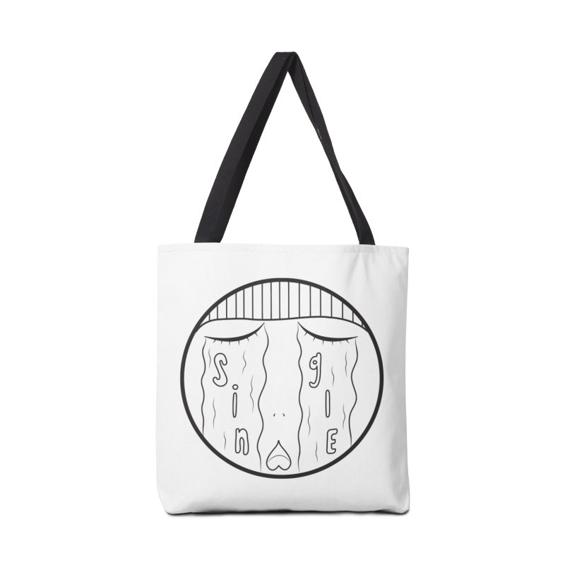 Single On Vday Accessories Tote Bag Bag by ezo's Artist Shop