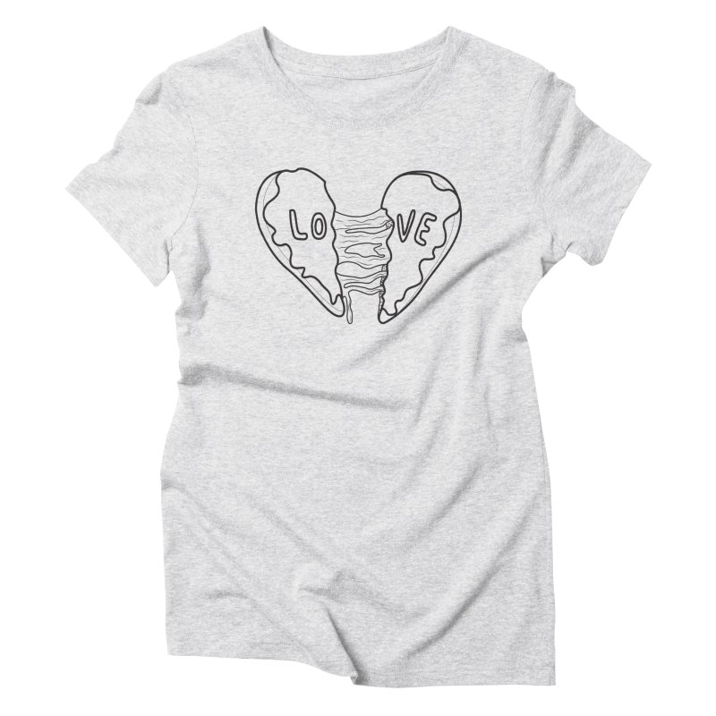 Heart Broken Donut Women's Triblend T-Shirt by ezo's Artist Shop