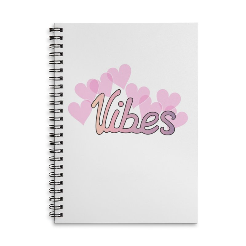 Vibes Accessories Lined Spiral Notebook by ezo's Artist Shop