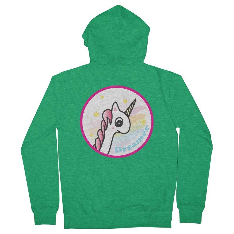 EZO Unicorn Dreamer Women's French Terry Zip-Up Hoody by ezo's Artist Shop