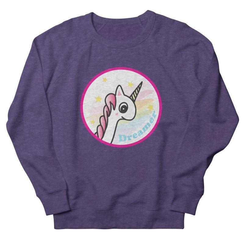 EZO Unicorn Dreamer Women's French Terry Sweatshirt by ezo's Artist Shop