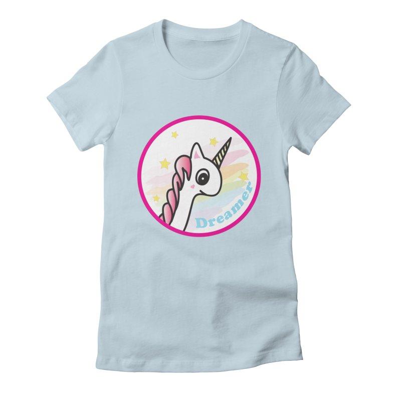 EZO Unicorn Dreamer Women's Fitted T-Shirt by ezo's Artist Shop