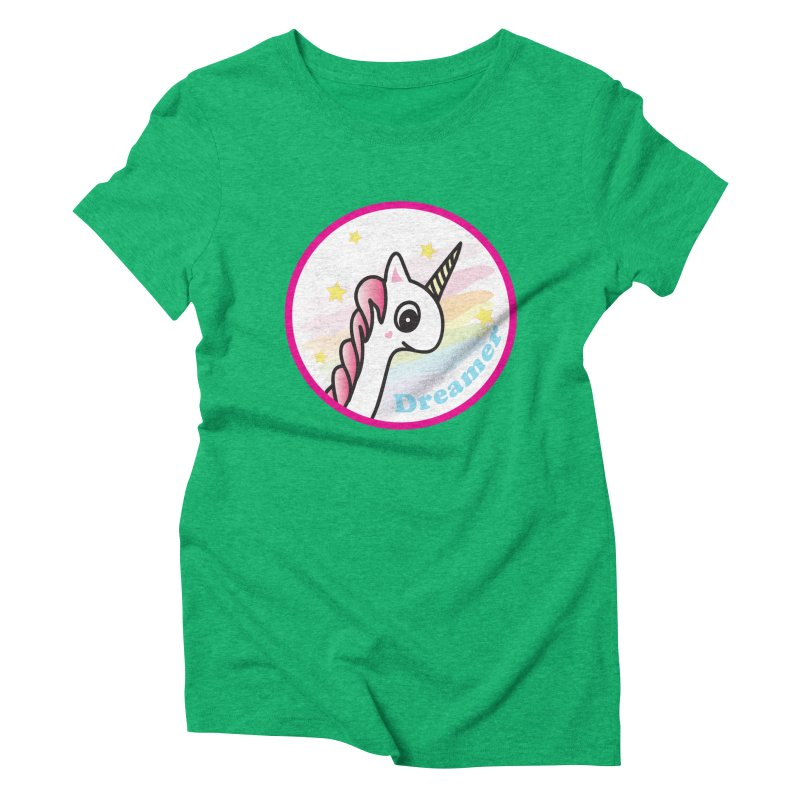 EZO Unicorn Dreamer Women's Triblend T-Shirt by ezo's Artist Shop