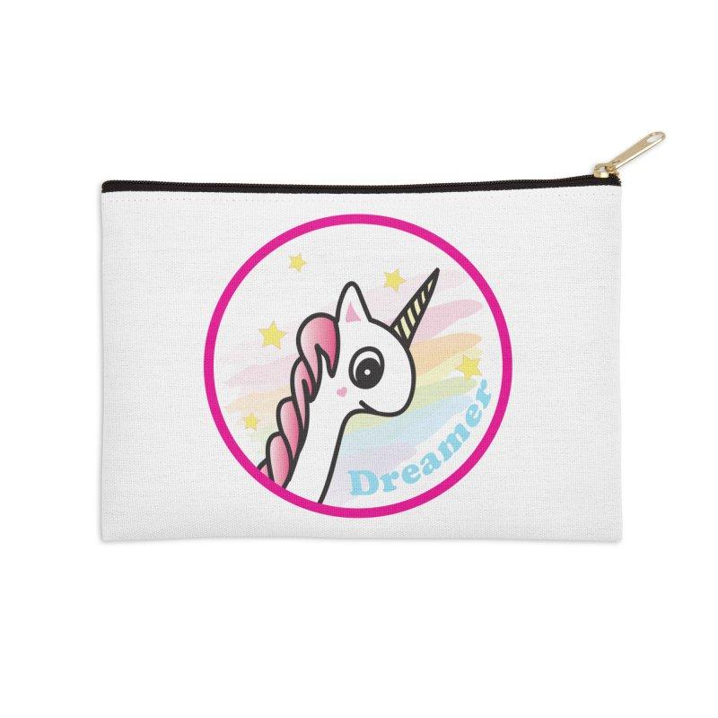 EZO Unicorn Dreamer Accessories Zip Pouch by ezo's Artist Shop