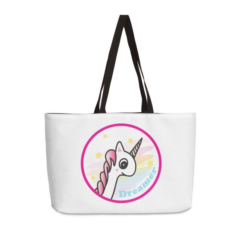EZO Unicorn Dreamer Accessories Weekender Bag Bag by ezo's Artist Shop