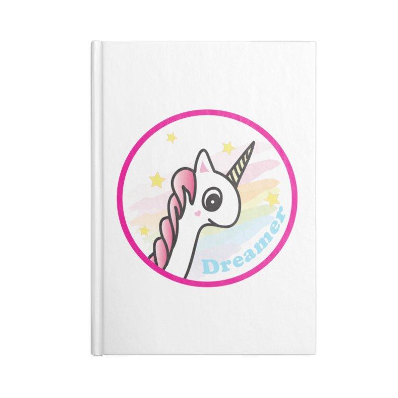 EZO Unicorn Dreamer Accessories Lined Journal Notebook by ezo's Artist Shop