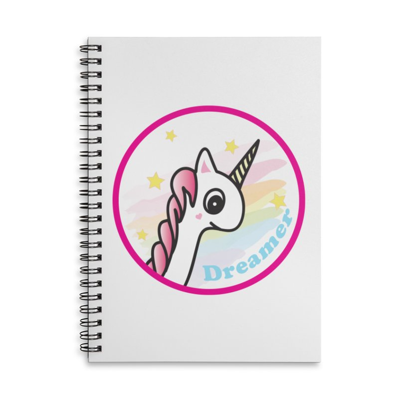 EZO Unicorn Dreamer Accessories Lined Spiral Notebook by ezo's Artist Shop