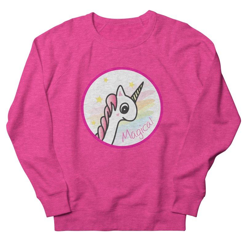 EZO Unicorn Magical Women's French Terry Sweatshirt by ezo's Artist Shop