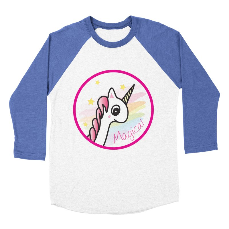 EZO Unicorn Magical Women's Baseball Triblend T-Shirt by ezo's Artist Shop
