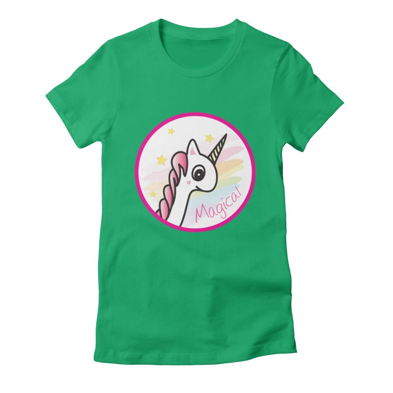 EZO Unicorn Magical Women's Fitted T-Shirt by ezo's Artist Shop