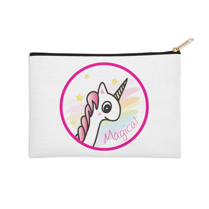 EZO Unicorn Magical Accessories Zip Pouch by ezo's Artist Shop