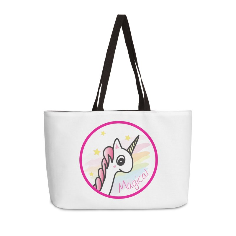 EZO Unicorn Magical Accessories Weekender Bag Bag by ezo's Artist Shop