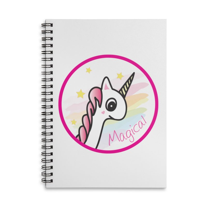 EZO Unicorn Magical Accessories Lined Spiral Notebook by ezo's Artist Shop