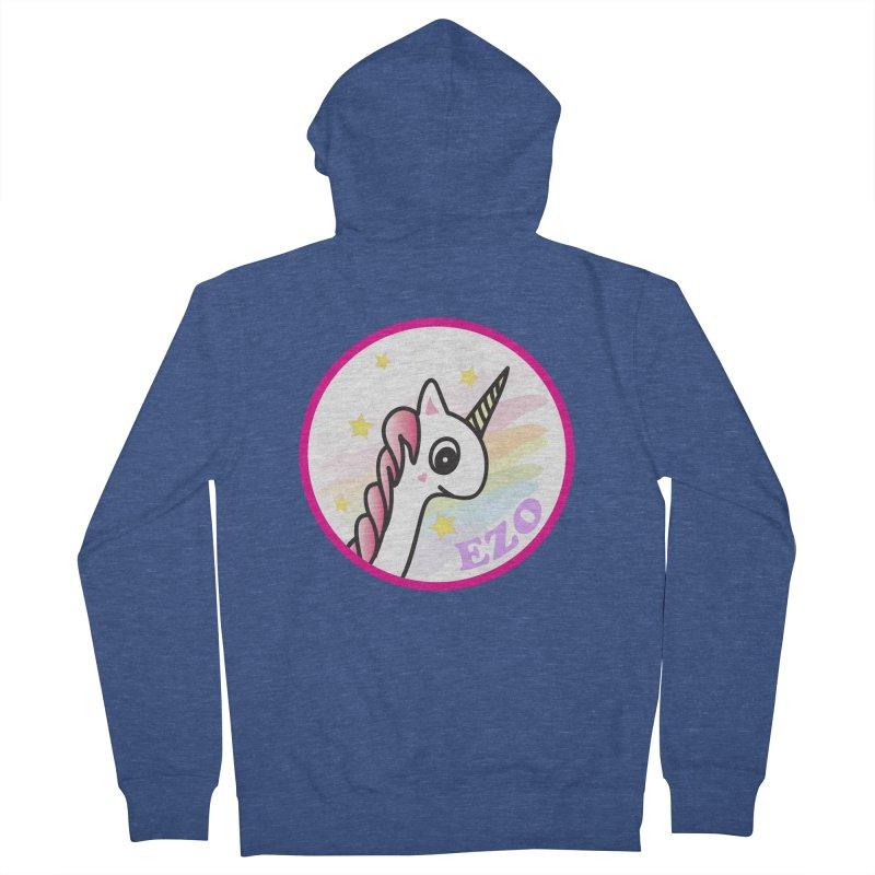 EZO Unicorn Women's French Terry Zip-Up Hoody by ezo's Artist Shop