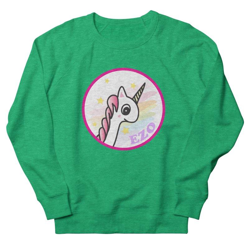 EZO Unicorn Women's French Terry Sweatshirt by ezo's Artist Shop