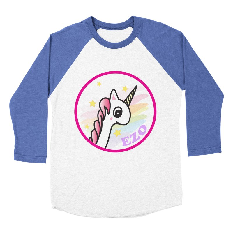 EZO Unicorn Women's Baseball Triblend T-Shirt by ezo's Artist Shop