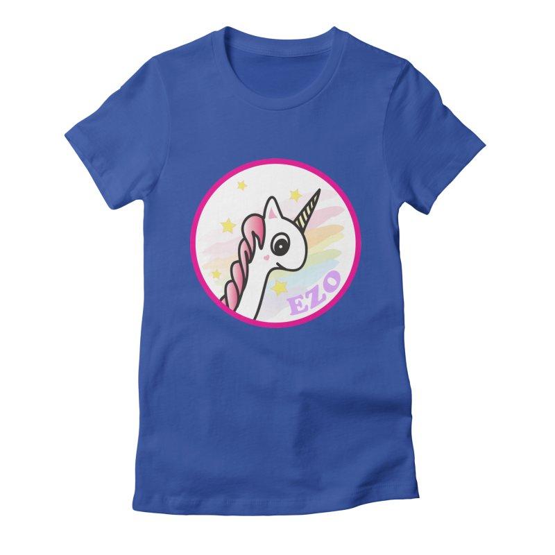 EZO Unicorn Women's Fitted T-Shirt by ezo's Artist Shop
