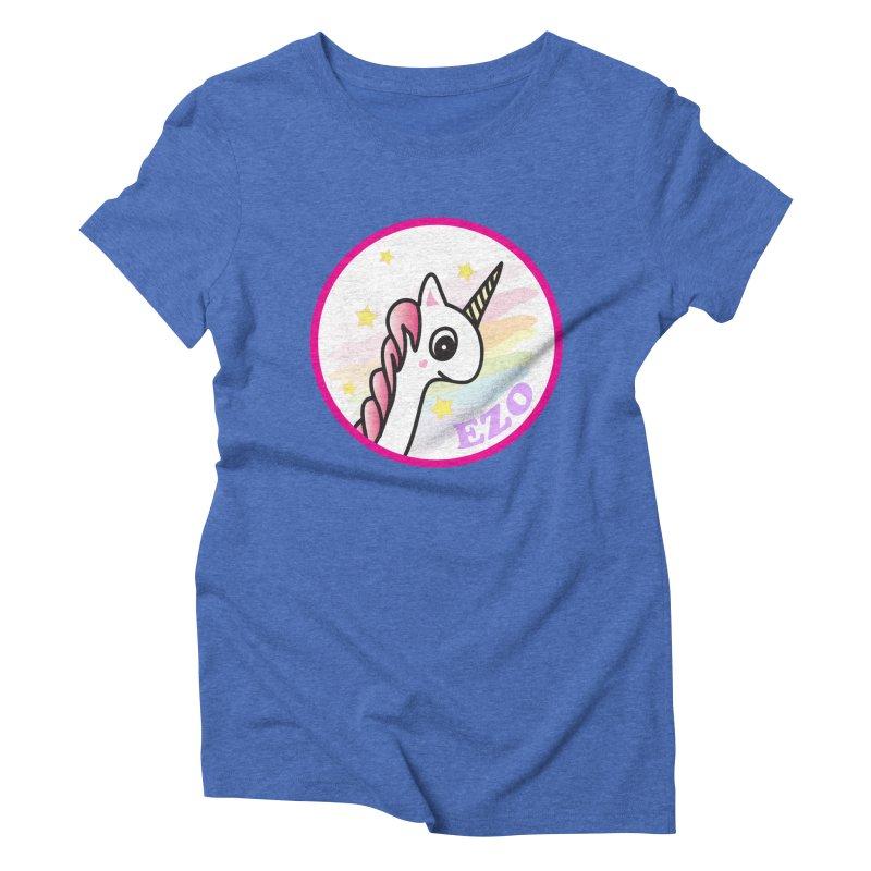 EZO Unicorn Women's Triblend T-Shirt by ezo's Artist Shop