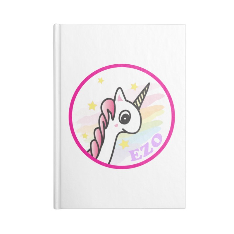 EZO Unicorn Accessories Lined Journal Notebook by ezo's Artist Shop