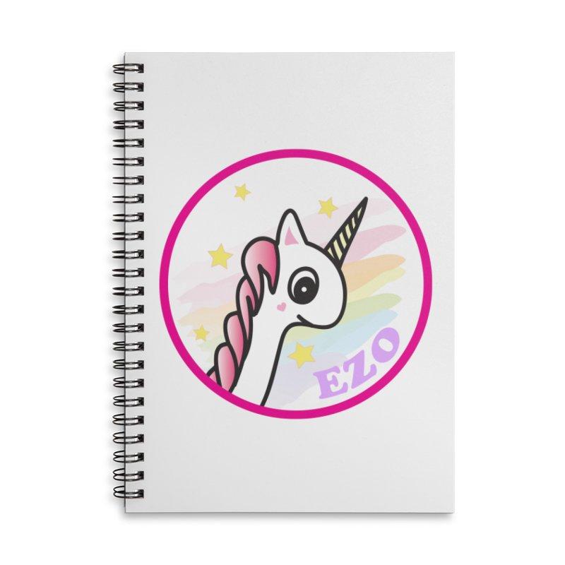 EZO Unicorn Accessories Lined Spiral Notebook by ezo's Artist Shop