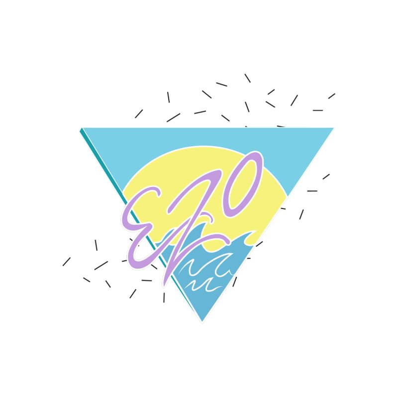 90's Summer Waves None  by ezo's Artist Shop