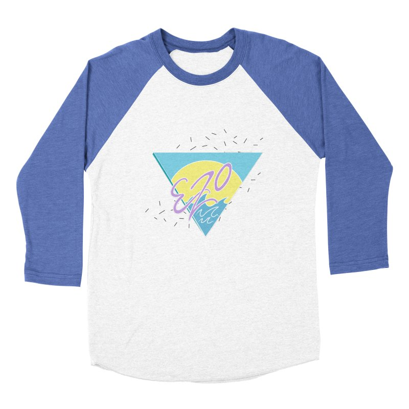 90's Summer Waves Men's Baseball Triblend Longsleeve T-Shirt by ezo's Artist Shop