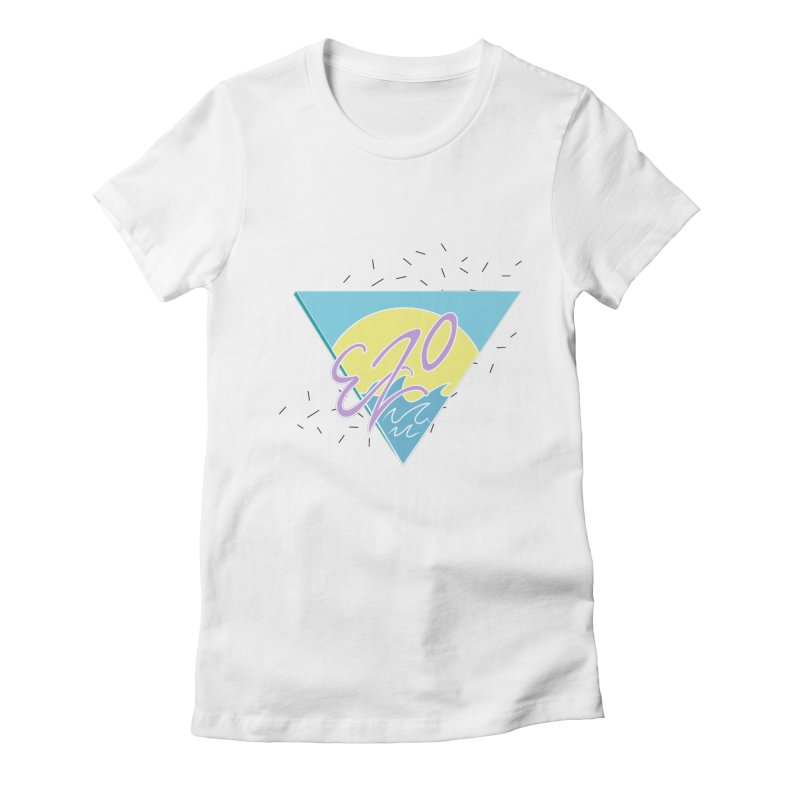 90's Summer Waves Women's Fitted T-Shirt by ezo's Artist Shop