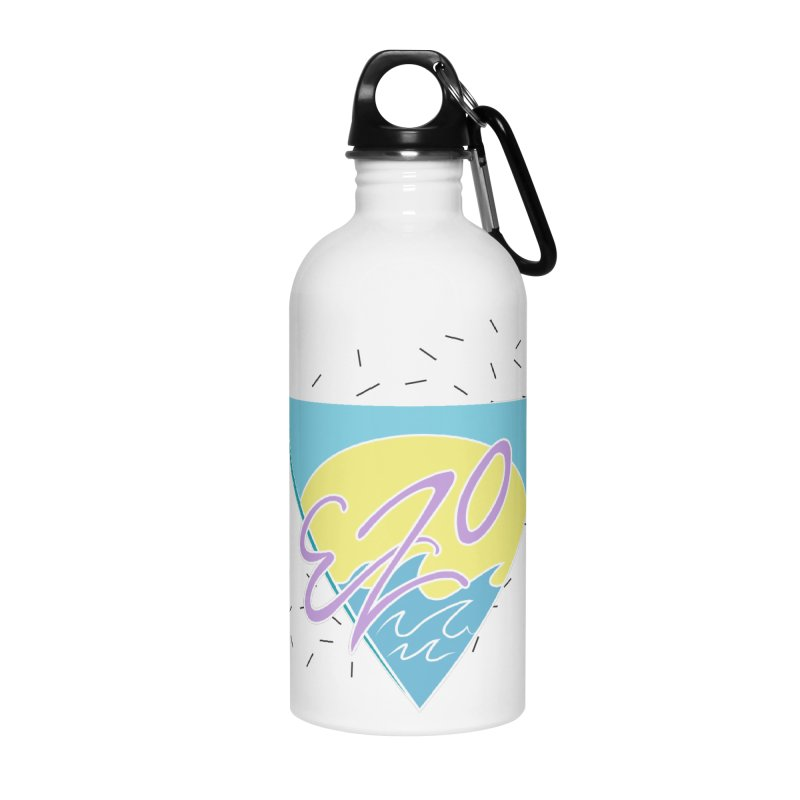 90's Summer Waves Accessories Water Bottle by ezo's Artist Shop