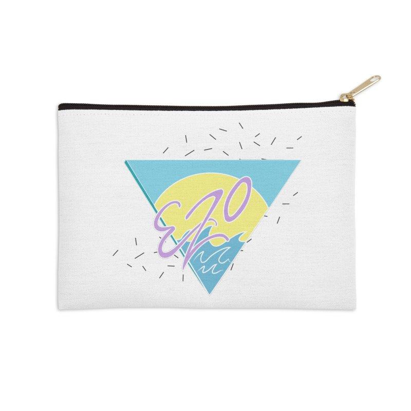 90's Summer Waves Accessories Zip Pouch by ezo's Artist Shop