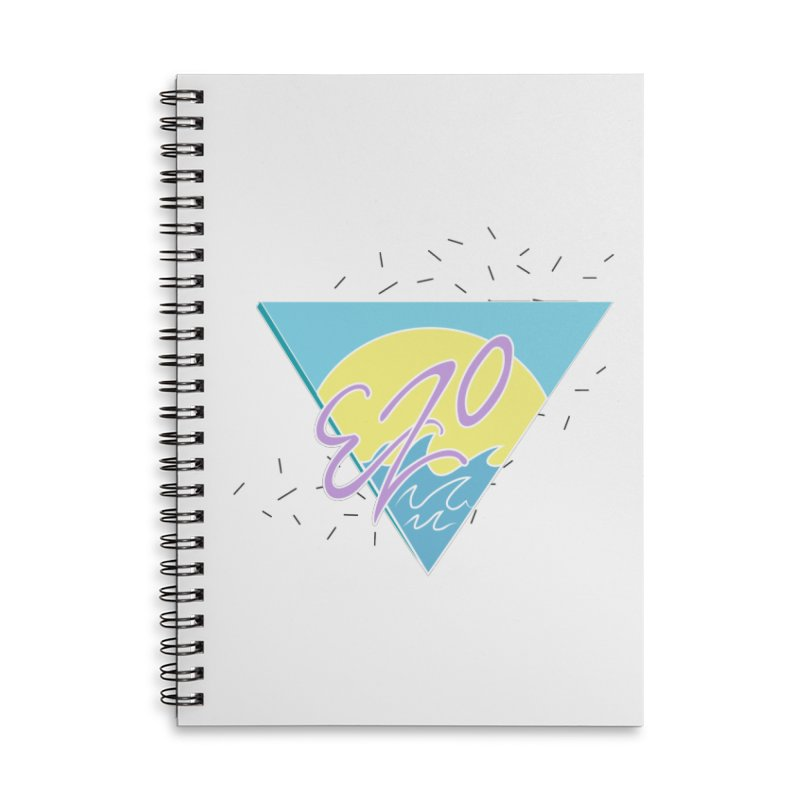 90's Summer Waves Accessories Lined Spiral Notebook by ezo's Artist Shop