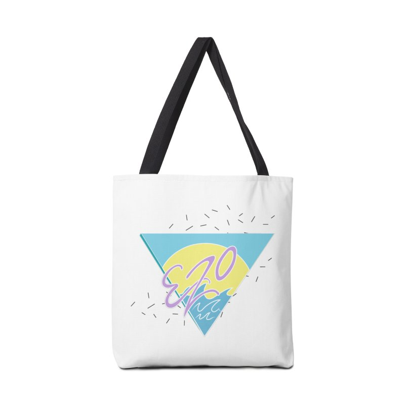 90's Summer Waves Accessories Tote Bag Bag by ezo's Artist Shop