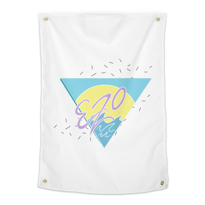 90's Summer Waves Home Tapestry by ezo's Artist Shop
