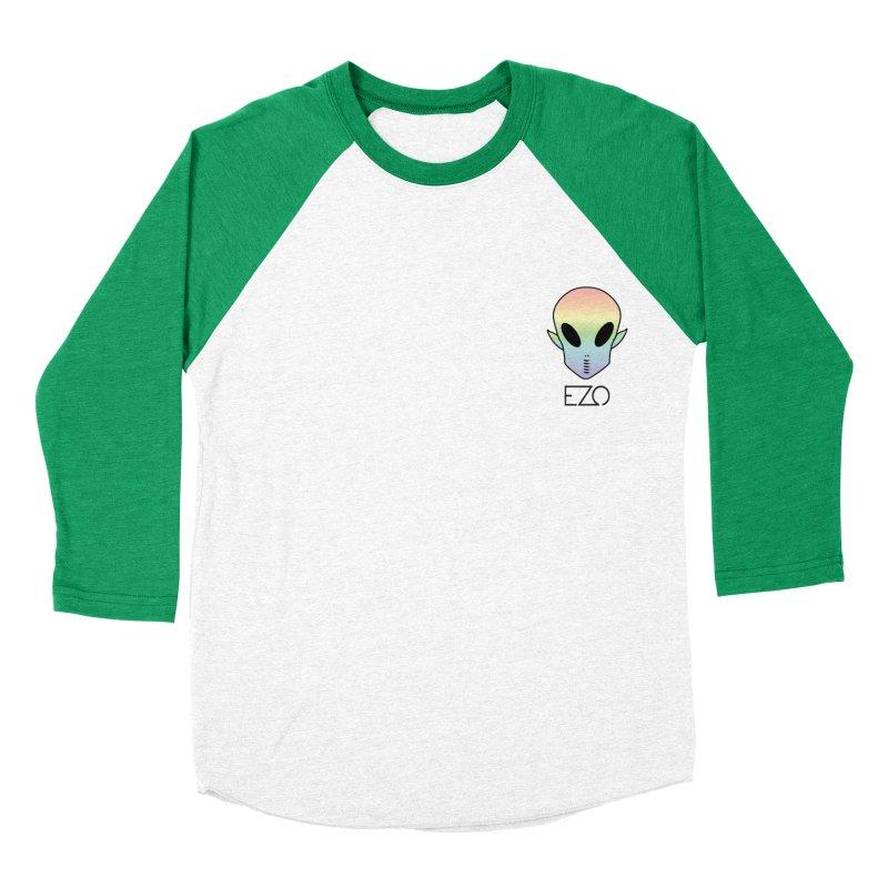 EZO Alien Typography Men's Baseball Triblend T-Shirt by ezo's Artist Shop