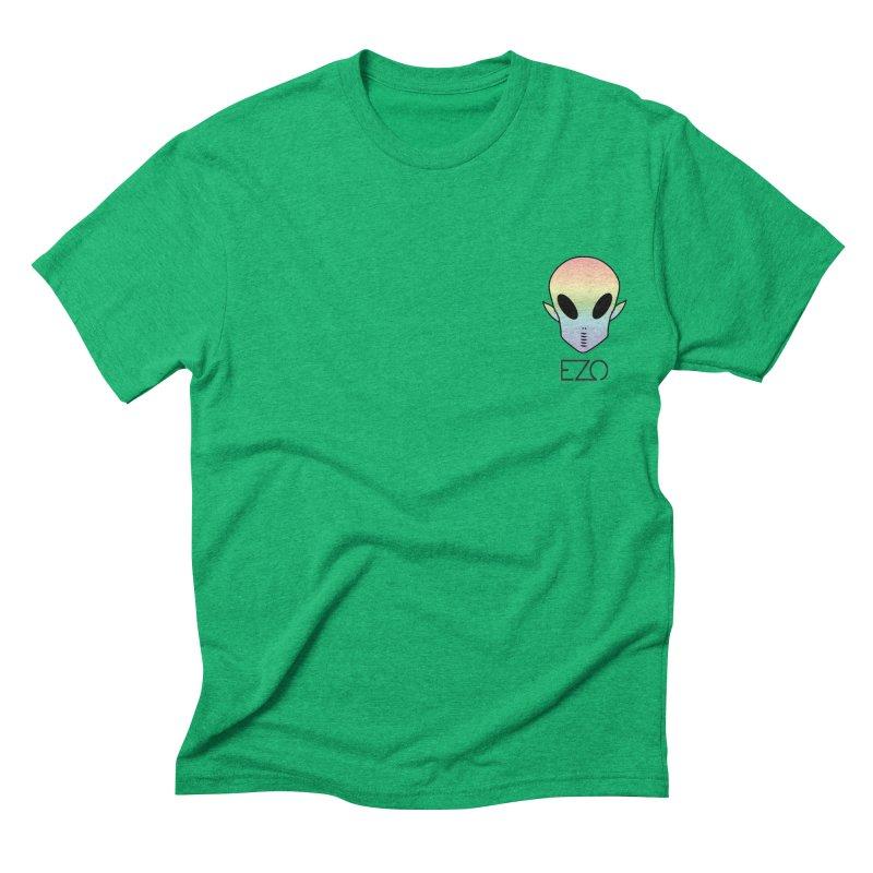 EZO Alien Typography Men's Triblend T-shirt by ezo's Artist Shop