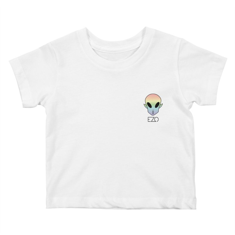 EZO Alien Typography Kids Baby T-Shirt by ezo's Artist Shop