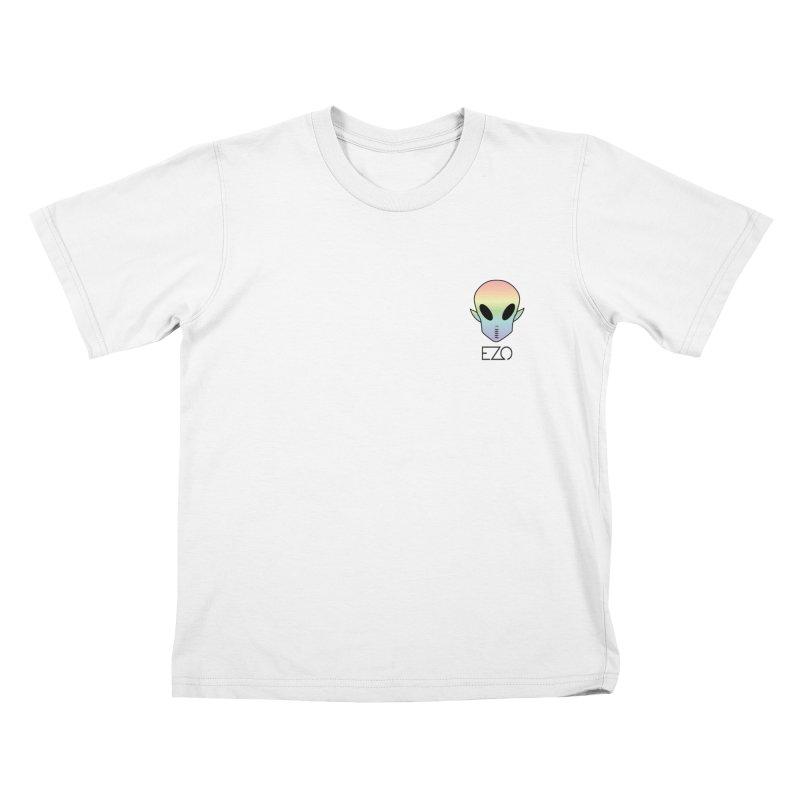 EZO Alien Typography Kids T-shirt by ezo's Artist Shop