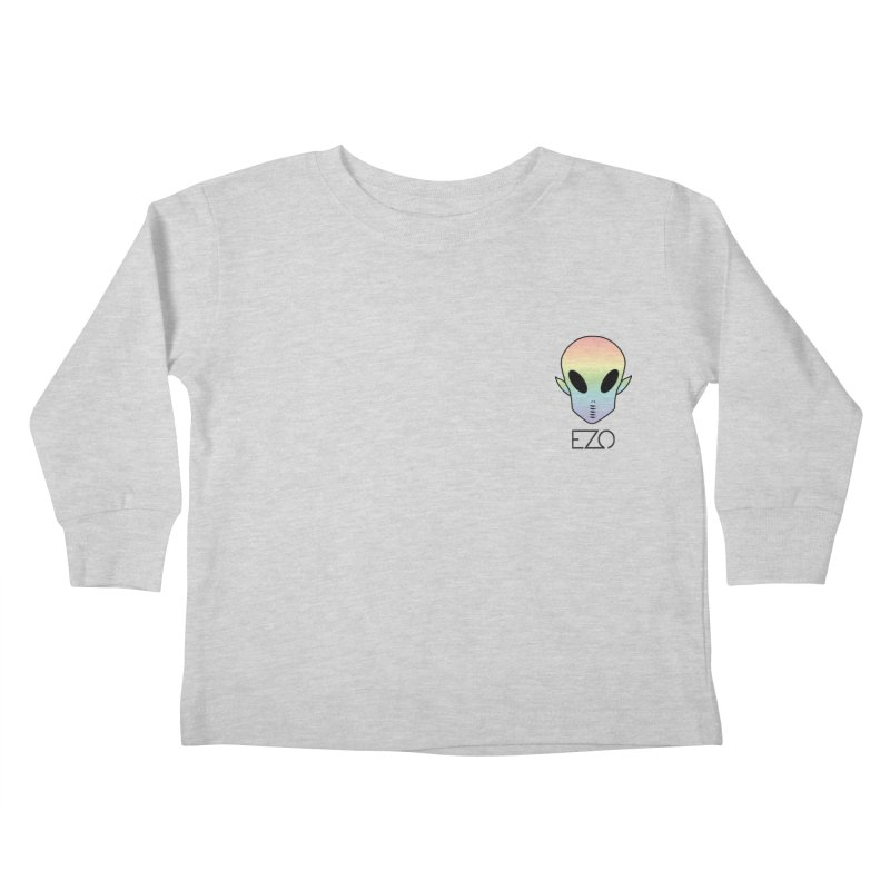 EZO Alien Typography Kids Toddler Longsleeve T-Shirt by ezo's Artist Shop