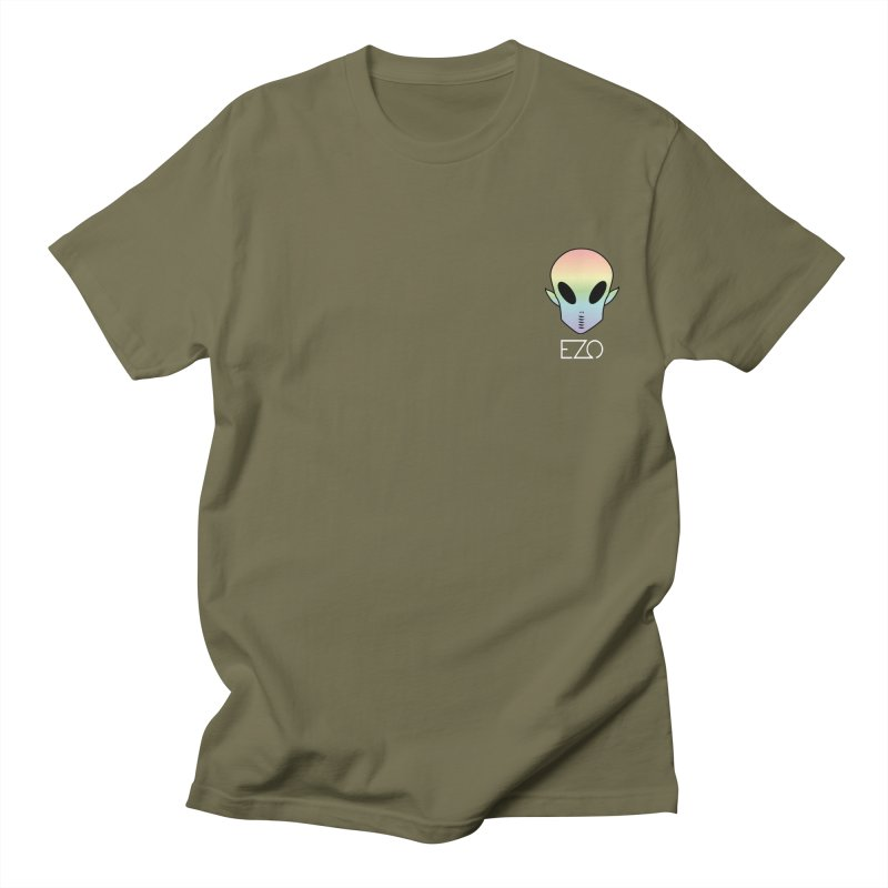 EZO Alien Type - White Men's T-shirt by ezo's Artist Shop