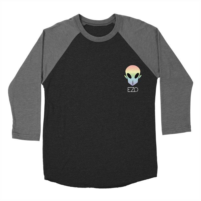 EZO Alien Type - White Men's Baseball Triblend Longsleeve T-Shirt by ezo's Artist Shop