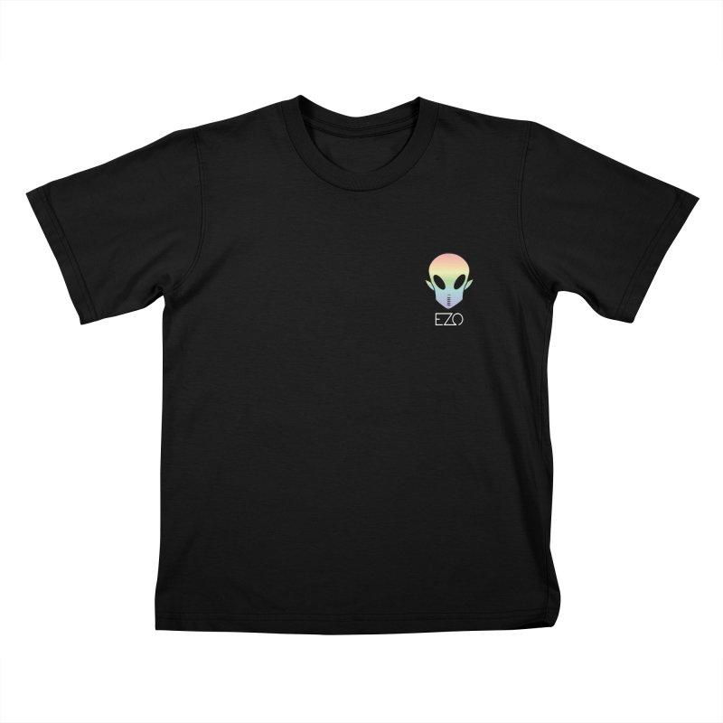 EZO Alien Type - White Kids T-shirt by ezo's Artist Shop