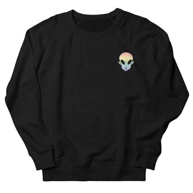 EZO Wannabe Alien Patch Shirt Men's French Terry Sweatshirt by ezo's Artist Shop
