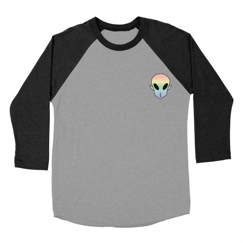 EZO Wannabe Alien Patch Shirt Men's Baseball Triblend Longsleeve T-Shirt by ezo's Artist Shop
