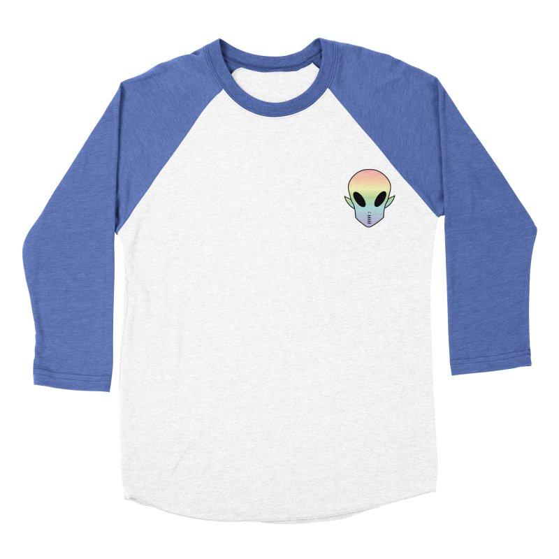 EZO Wannabe Alien Patch Shirt Men's Baseball Triblend T-Shirt by ezo's Artist Shop