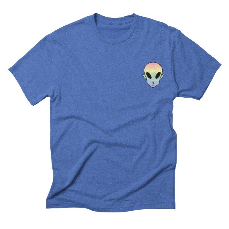 EZO Wannabe Alien Patch Shirt Men's Triblend T-shirt by ezo's Artist Shop