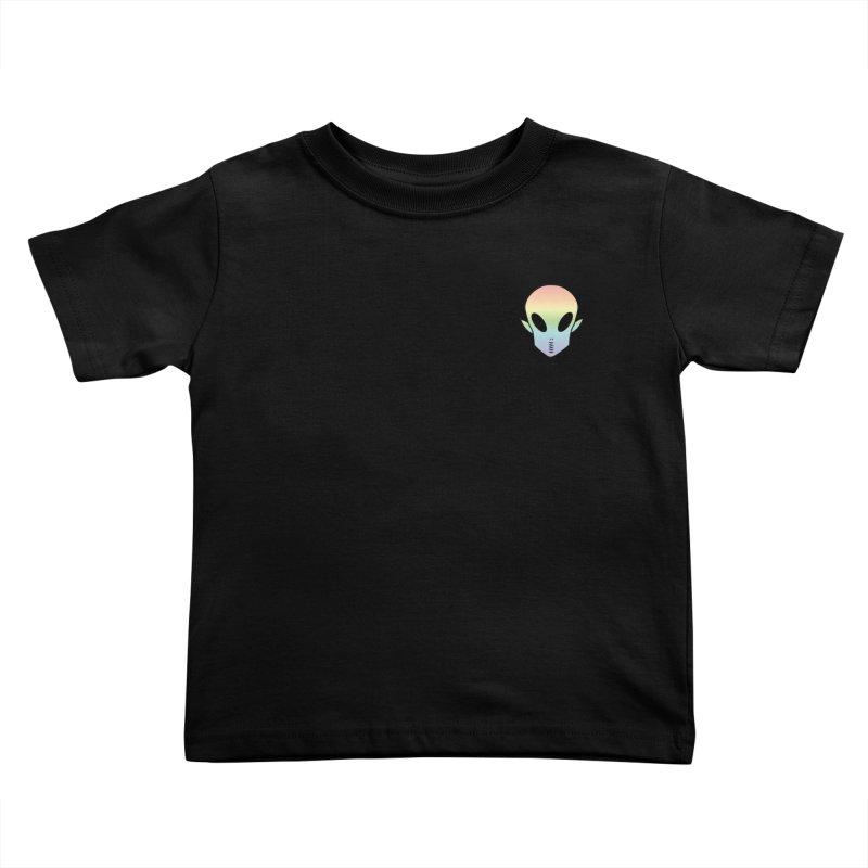 EZO Wannabe Alien Patch Shirt Kids Toddler T-Shirt by ezo's Artist Shop