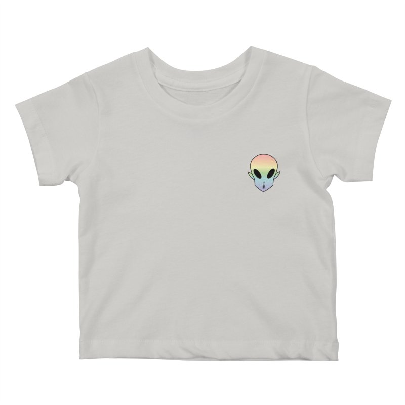 EZO Wannabe Alien Patch Shirt Kids Baby T-Shirt by ezo's Artist Shop