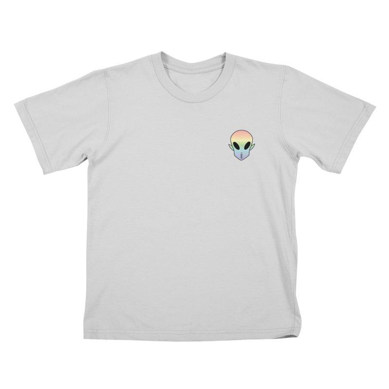 EZO Wannabe Alien Patch Shirt Kids T-Shirt by ezo's Artist Shop