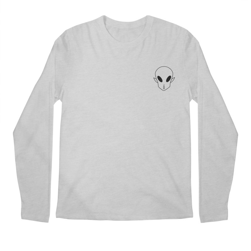 EZO Alien Wannabe Patch - Black Outline Men's Regular Longsleeve T-Shirt by ezo's Artist Shop