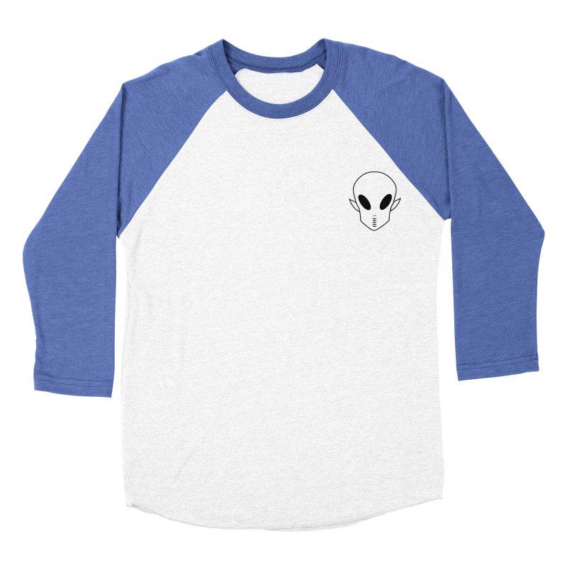 EZO Alien Wannabe Patch - Black Outline Men's Baseball Triblend Longsleeve T-Shirt by ezo's Artist Shop