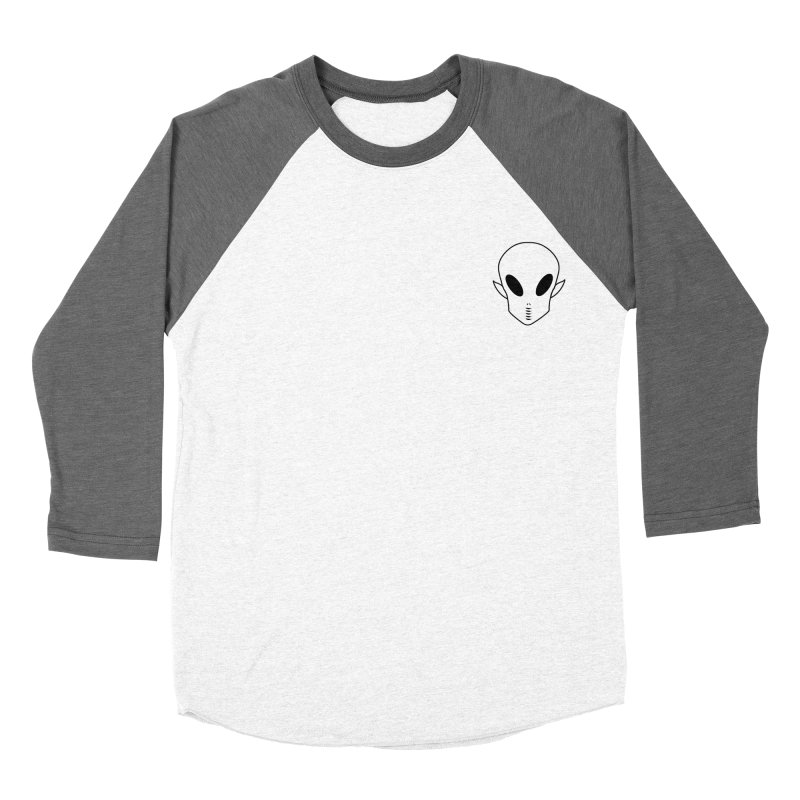 EZO Alien Wannabe Patch - Black Outline Men's Baseball Triblend Longsleeve T-Shirt by ezo's Artist Shop